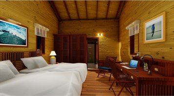 Sitaram Ayurveda Beach Retreat Premium Wooden Villa