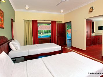 Krishnendu Ayurveda Rejuvenation Therapy Suite with private treatment room