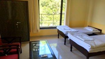 Yoga Vidya Mandiram Shared Twin Room (A/C)